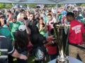 At Soldier Field in Chicago, Allstate celebrates with soccer fans before 2 CONCACAF Gold Cup matches.