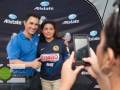 Allstate celebrates with fans outside The Goergia Dome before the 2015 CONCACAF Gold Cup semi-finals