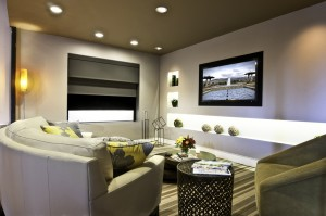 The showroom at Madrona Digital - a custom home theater design and installation company - welcomes you.