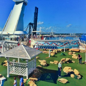 Mini-Golf; One of the many activities on Deck 15 of the Royal Caribbean Allure of the Seas