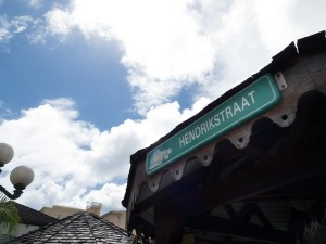 A road sign in Dutch - a sign of the history of Sint Maarten