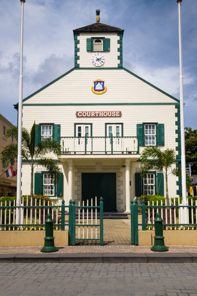 The Dutch Courthouse - featured on one of the flags of St. Maarten