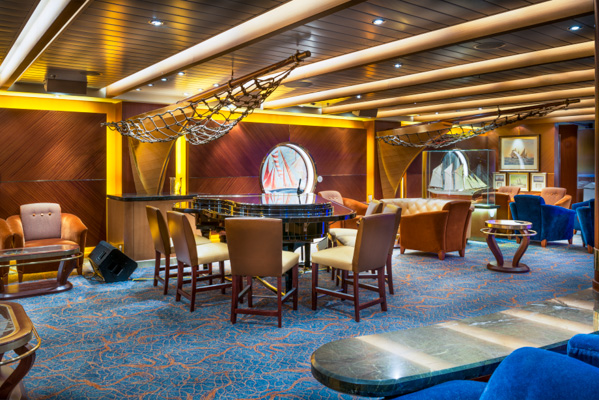 The Schooner Bar - One of the many lounges on the Royal Caribbean Allure of the Seas