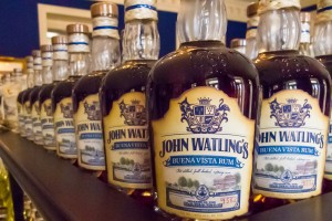 Gold Medal Winner Buena Vista from John Watling's - Bottles on display in their home at the Buena Vista Estate on Nassau