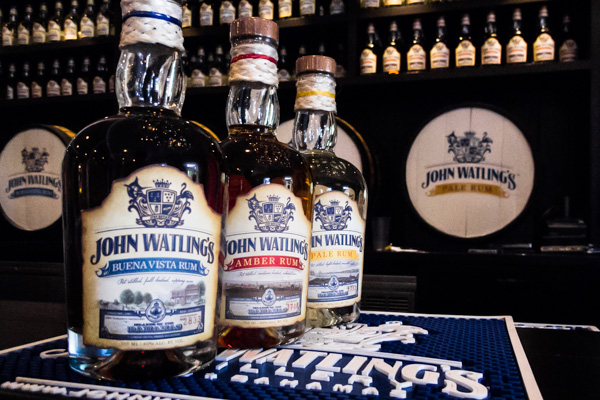 Bottles on display at the John Watling's Distillery in their tasting room at the Buena Vista Estate on Nassau
