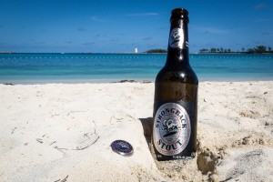 Strong Back Stout - from the Bahamian Brewery and Beverage Co - on Junkanoo Beach on Nassau