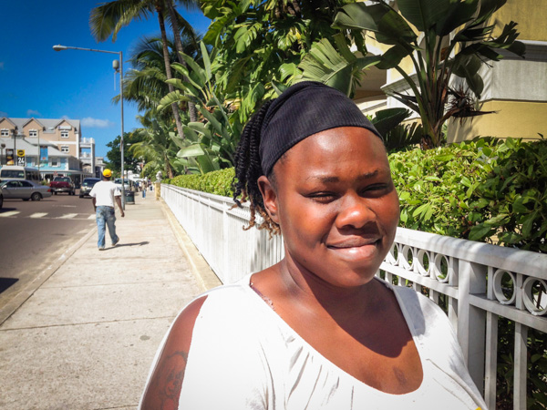 Shelly - a devout young woman in search of a job in Nassau