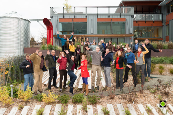 The Watershed Company Holiday Portrait 2013 - Might As Well Jump!