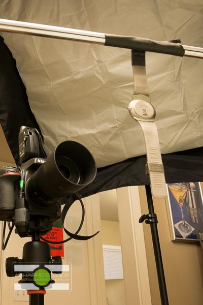 Apollo Softbox high and camera left