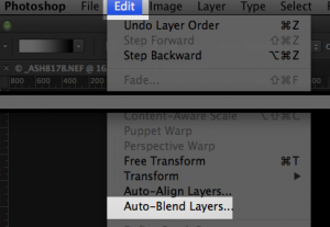 Auto Blend Layers Command in Adobe Photoshop CC