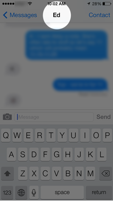 iOS 7 messages only show the person's first name