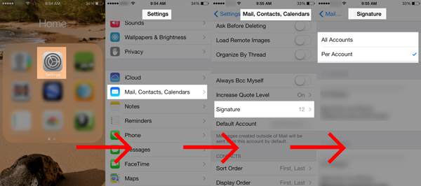 Creating Email Signatures for Each Account on your iOS Device! Tip by AShapiro Studios