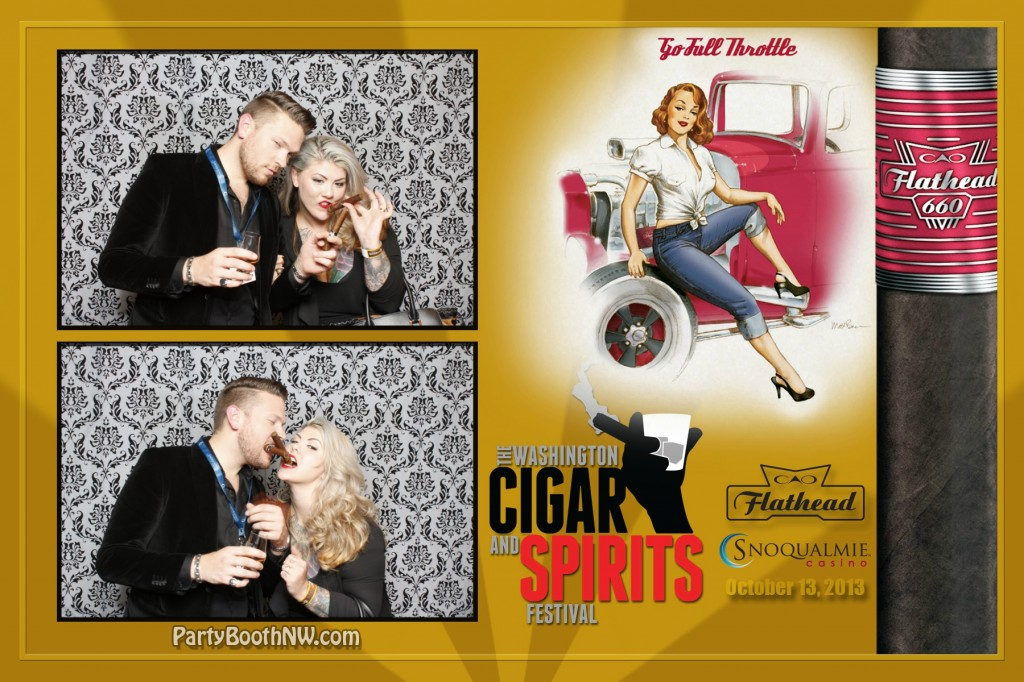 Seattle-Area's Snoqualmie Casino chose PartyBoothNW as the Photo Booth for the Washington Cigar and Spirit Festival!