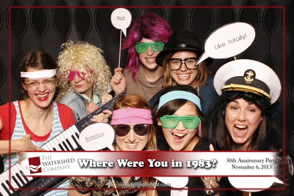 Seattle Landscape Architecture Firm Watershed Co chose PartyBoothNW to celebrate their 30th Anniversary