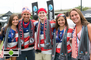 Sponsors of the US Men's National Team, Allstate Insurance entertained fans of the USMNT Soccer Team in a match at EverBank Field in Jacksonville in their friendly vs Nigeria in a lead-up for the 2014 World Cup. Event Photography ©2014 Ari Shapiro - AShapiro Studios.