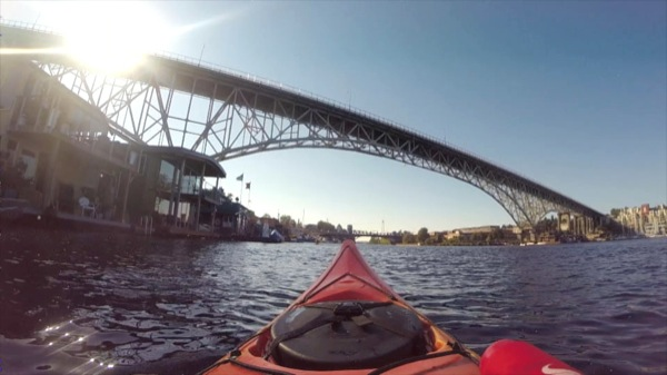 On a late summer day, I kayaked from the Northwest Outdoor Center to the Ballard Bridge and back, passing Fremont and the Fremont Bridge and Seattle Pacific University.  ©2014 Ari Shapiro - AShapiroStudios.com