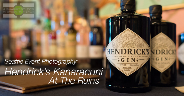 At The Ruins, an exclusive private events venue and supper club in Seattle, bartenders, media and other liquor-industry trade were joined by global and regional ambassadors and Master Distiller Leslie Gracie – Founder of Hendrick's Gin – for a rare taste of the limited offering, Kanaracuni. Seattle Event Photography by Ari Shapiro at AShapiroStudios.com