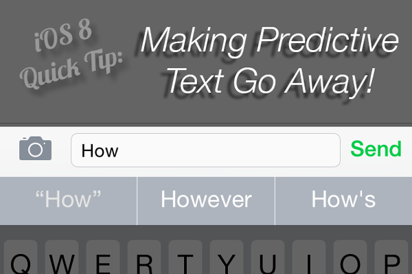 iOS 8 Quick Tip - Making Predictive Text Go Away. ©2014 Ari Shaprio - AShapiro Studios
