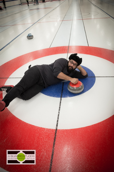 Members of the WA Chapter of the USBG and other bartenders were treated to a fun day of Hendricks Gin Cocktails and learning the ancient sport of Curling! Seattle Event Photography ©2014 Ari Shapiro - AShapiroStudios.com
