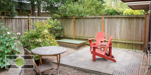 Large outdoor space in a Fremont Townhouse, listing soon. Seattle Real Estate Photography ©2015 Ari Shapiro - AShapiroStudios.com