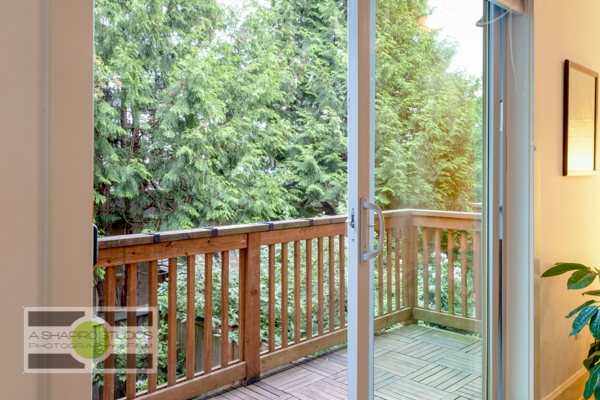 The deck off the living room of a Fremont Townhouse, listing soon.  Seattle Real Estate Photography ©2015 Ari Shapiro - AShapiroStudios.com