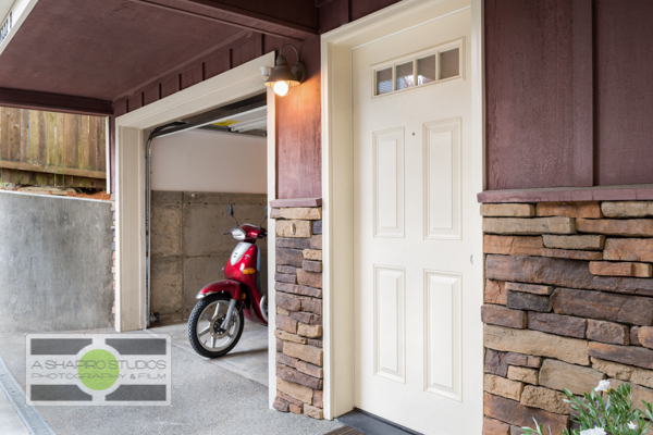 The garage of a Fremont Townhouse, listing soon.  Seattle Real Estate Photography ©2015 Ari Shapiro - AShapiroStudios.com