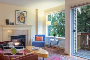 The living room of a Fremont Townhouse, listing soon. Seattle Real Estate Photography ©2015 Ari Shapiro - AShapiroStudios.com