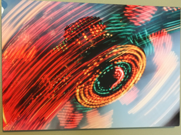 """All A Blur"" - Photo by Ari Shapiro.  Metal Print with wall hook, 1/2"" Standout from wall. Measures 17""w x 11""h. $40"