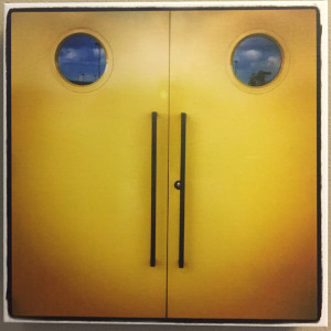 """""""Smile, Door"""" - Photo by Ari Shapiro. Canvas Print with wall hook, 1.5"""" Standout from wall. Measures 12"""" square. $15"""