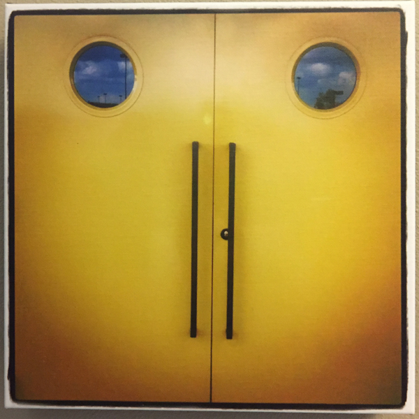 """Smile, Door"" - Photo by Ari Shapiro.  Canvas Print with wall hook, 1.5"" Standout from wall. Measures 12"" square. $15"