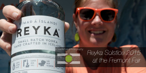 Sponsors of the Solstice Festival in Seattle's Fremont neighborhood, Reyka Vodka had cocktails, T's and shades ready! Seattle Event Photography ©2015 Ari Shapiro - AShapiroStudios.com