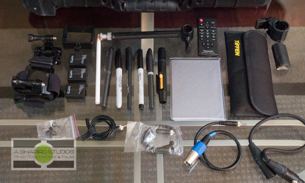 The video equipment I'll be using to shoot the CONCACAF Gold Cup in 2015.  Photography by Ari Shapiro - AShapiroStudios.com