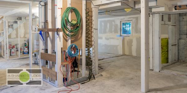 The open basement of a Ballard updated Craftsman house.  Seattle Real Estate Photography ©2015 Ari Shapiro - AShapiroStudios.com