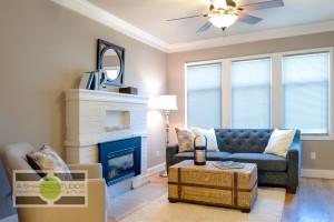 The bright living room of a Ballard updated Craftsman house. Seattle Real Estate Photography ©2015 Ari Shapiro - AShapiroStudios.com