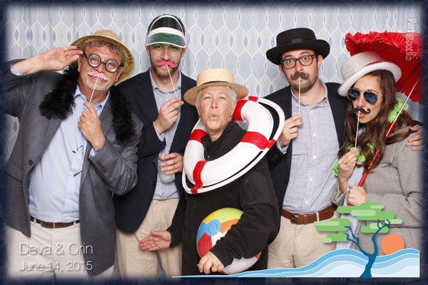 Friends from all corners of the globe joined Orin and Deva for their wedding in Seabrook on the Washington coast - and rocked the Seattle Photo Booth by PartyBoothNW!