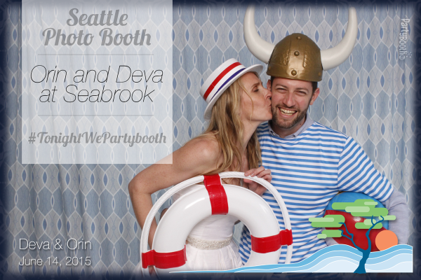Friends from all corners of the globe joined Orin and Deva for their wedding in Seabrook on the Washington coast - and rocked the PartyBoothNW Seattle Photo Booth! Tonight We PartyBooth!