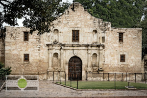 The Shrine - just one of many buildings at The Alamo compound. Also, getting a photo of this building without any people in front of it is no easy task. Travel Photography © 2015 Ari Shapiro - AShapiroStudios.com
