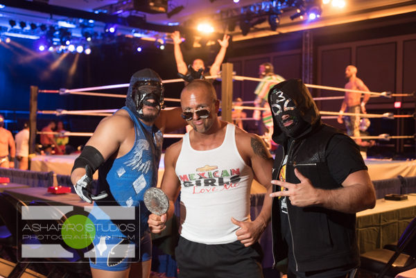 The one and only Macho Libre Cigar & Wrestling Fiesta returned to the Snoqualmie Casino Ballroom on Thursday, May 5. Wrestling fans and party goers enjoyed high flying Lucha Libre action as well as special deals on El Jimador tequila, Corona and our featured cigar, Leccia Luchador. Leccia Tobacco's Sam Leccia was on hand as we celebrated Cinco de Mayo in style! Seattle Corporate Event Photography ©2016 Ari Shapiro - AShapiroStudios.com