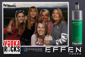 Vodka Rocks - the ultimate outdoor Summer Music Festival at Snoqualmie Casino - is back and better than ever! This year the event featured live music from Empire Records, Calamity Jane and Xanadu, plus a new outdoor BBQ and more! Guests enjoyed some of the world's leading vodka brands including Effen Vodka who hosted a fun photo booth from PartyBoothNW so guests could get a photo to remember the exciting event. Sip on custom cocktails in the sun and listen to local hits, all with fabulous views of the Snoqualmie Valley! Tonight, Vodka Rocks - Tonight We PartyBooth! Seattle Photo Booth ©2017 PartyBoothNW.com