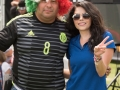 Soccer fans braved the heat of Phoenix to support their team in Group Stage CONCACAF Gold Cup play.