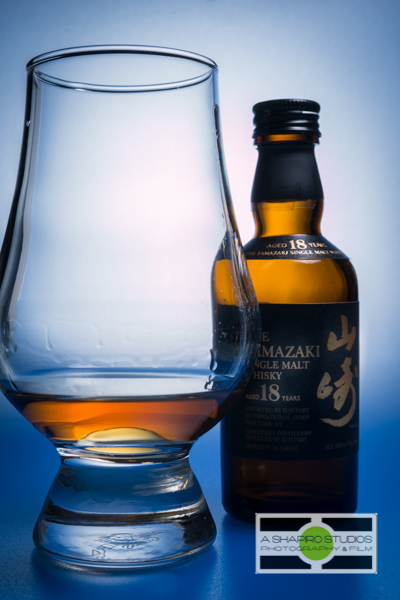 Yamazaki 18 Single Malt Japanese Whisky - Tabletop Product Photography by Ari Shapiro - AShapiro Studios - for The Whisky Guy